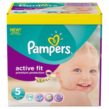 76 Couches Pampers Pampers Active Fit Taille 5 En Promotion Sur Layota