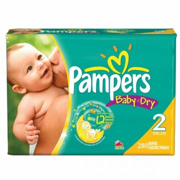 280 Couches Pampers Pampers Baby Dry Taille 2 En Promotion Sur Layota