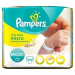 Pack 24 Couches Pampers New Baby Micro sur layota