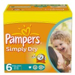 Pack de 62 Couches Pampers Simply Dry sur layota