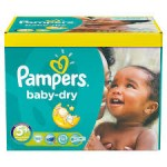 245 Couches Pampers Baby Dry taille 5+