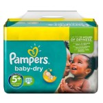 Pack de 35 Couches Pampers Baby Dry sur layota