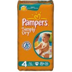 Pack 74 Couches Pampers Simply Dry sur layota