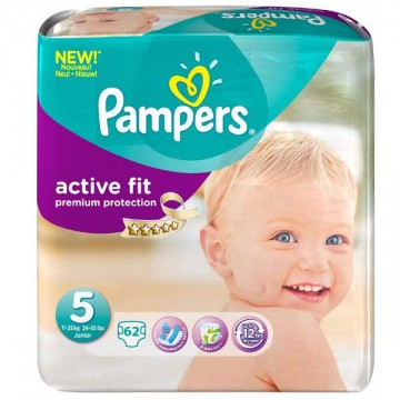 62 Couches Pampers Pampers Active Fit Taille 5 Moins Cher Sur Layota