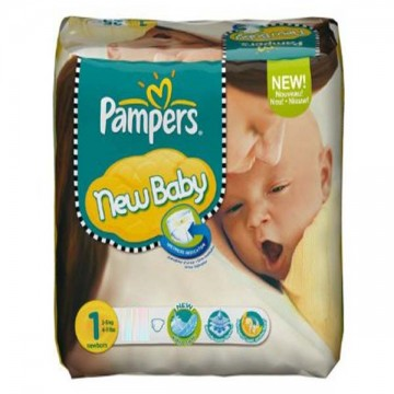 301 Couches Pampers Pampers New Baby Dry Taille 1 En Promotion Sur
