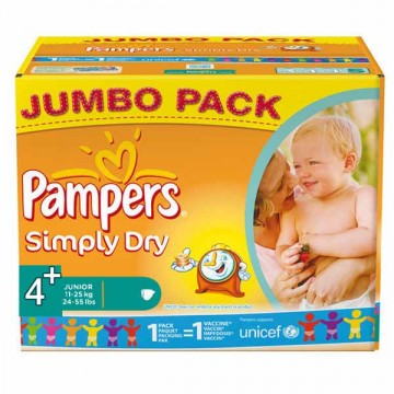 308 Couches Pampers Pampers Simply Dry Taille 4 A Bas Prix Sur Layota