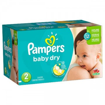 252 Couches Pampers Pampers Baby Dry Taille 2 En Solde Sur Cou Ches