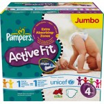 312 Couches Pampers Active Fit taille 4
