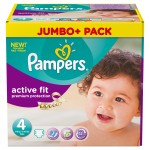 Pack économique de 270 Couches Pampers Active Fit sur layota