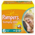 Pack de 124 Couches de Pampers Simply Dry sur layota