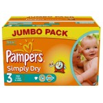 Pack de 280 Couches de Pampers Simply Dry sur layota