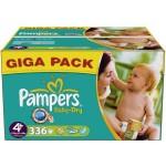 Pack économique 336 Couches de Pampers Baby Dry sur layota
