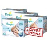 Giga Pack 540 Couches Pampers de New Baby Sensitive sur layota