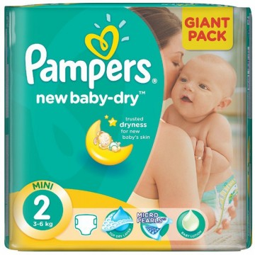 68 Couches Pampers Pampers New Baby Dry Taille 2 En Solde Sur Cou Ches
