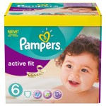 124 Couches Pampers Active Fit taille 6