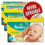 Giga Pack 516 Couches de Pampers New Baby Dry sur layota
