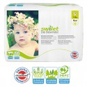 28 Couches bio écologiques Swilet New Baby Dry taille 4