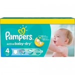 132 Couches Pampers Active Baby Dry taille 4
