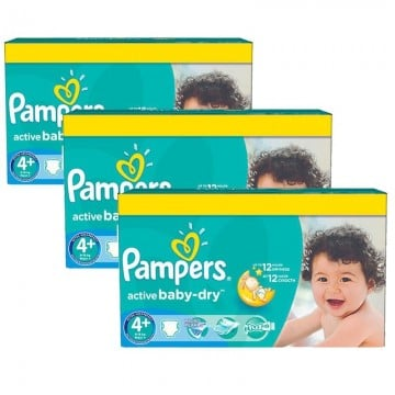 336 Couches Pampers Pampers Active Baby Dry Taille 4 En Solde Sur