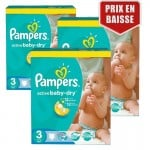 Maxi Giga Pack 246 Couches de Pampers Active Baby Dry sur layota