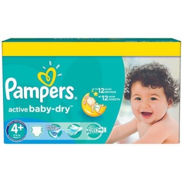 112 Couches Pampers Pampers Active Baby Dry Taille 4 Pas Cher Sur