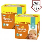 Giga pack 476 Couches Pampers Sleep & Play sur layota