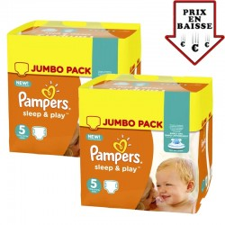 476 Couches Pampers Sleep & Play taille 2