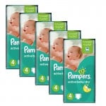 Maxi Giga pack de 294 Couches Pampers Active Baby Dry sur layota