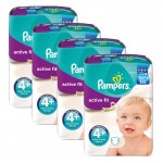 Giga pack 282 Couches Pampers d'Active Fit sur layota