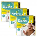 240 Couches Pampers Premium Protection - New Baby taille 3