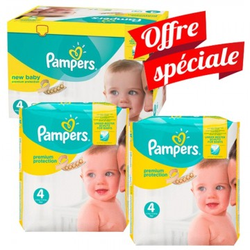 672 Couches Pampers Pampers Premium Protection Taille 4 A Bas Prix