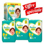 217 Couches Pampers Premium Protection - New Baby taille 6