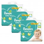140 Couches Pampers Baby Dry taille 7