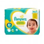 62 Couches Pampers Premium Protection - New Baby taille 4+
