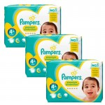 186 Couches Pampers Premium Protection - New Baby taille 4+