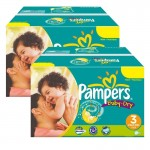 408 Couches Pampers Baby Dry taille 3