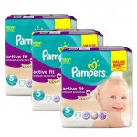 276 Couches Pampers Active Fit taille 5