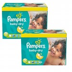 175 Couches Pampers Baby Dry taille 5+