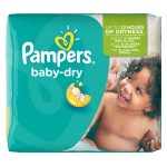 25 Couches Pampers Baby Dry taille 5+
