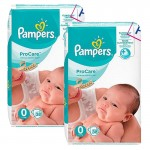 76 Couches Pampers ProCare Premium protection taille 0