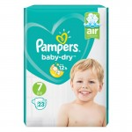 23 Couches Pampers Baby Dry taille 7