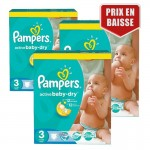 432 Couches Pampers Active Baby Dry taille 3