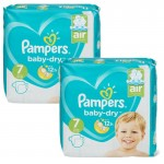 115 Couches Pampers Baby Dry taille 7