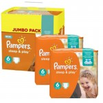 150 Couches Pampers Sleep & Play taille 6