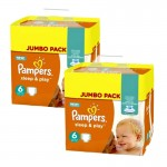 210 Couches Pampers Sleep & Play taille 5