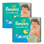 Maxi Pack 108 Couches Pampers Active Baby Dry