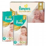 Extra Pack 120 Couches Pampers Premium Care Prima