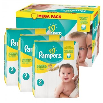 Pack 220 Couches New Baby Pampers Premium protection