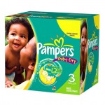 136 Couches Pampers Baby Dry taille 3