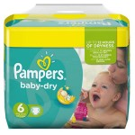 Maxi Pack 124 Couches Pampers Baby Dry sur layota